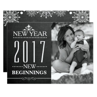 Carte Photo 2017 de famille de nouvelle année de la