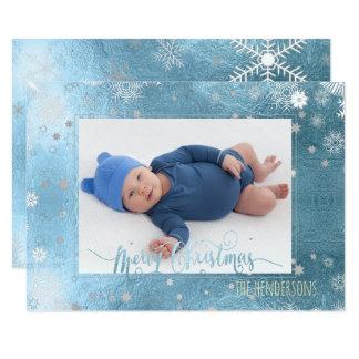 Carte Photo/calligraphie de vacances de Noël de