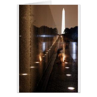 Carte Photo commémorative de mur de vétérans du Vietnam