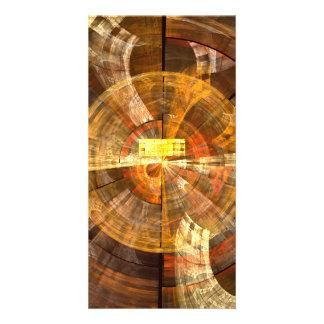 Carte photo d'art abstrait d'intégrité carte avec photo