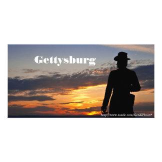 Carte photo de coucher du soleil de Gettysburg
