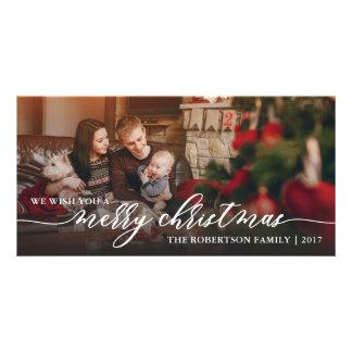 Carte photo de Joyeux Noël, bonnes fêtes