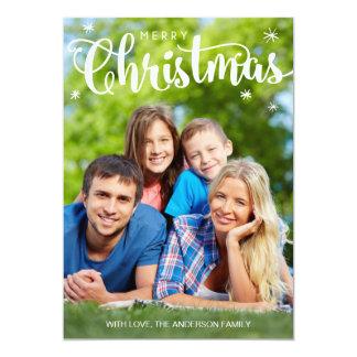 Carte photo de Joyeux Noël, carte simple de Carton D'invitation 12,7 Cm X 17,78 Cm
