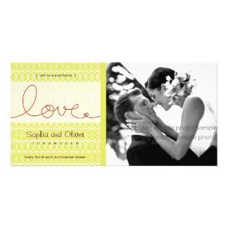 Carte photo de Merci de mariage de thé d'amour de Modèle Pour Photocarte
