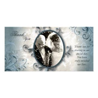 Carte Carte photo de Merci de mariage - feuillage
