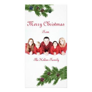 Carte photo de Noël avec des branches d'arbre de Photocarte