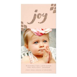 Carte photo de Noël de joie de scintillement de Cartes De Vœux Avec Photo