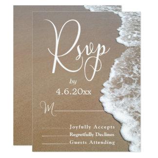 Carte Photo de sable et de plage de mousse/typographie