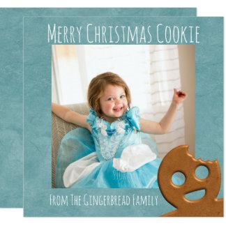 Carte photo de vacances de carré de biscuit de