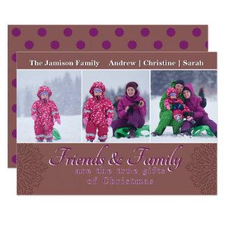 Carte photo de vacances de famille et d'amis