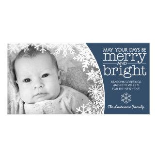 Carte photo de vacances : Laissez lui neiger ! Photocartes Personnalisées