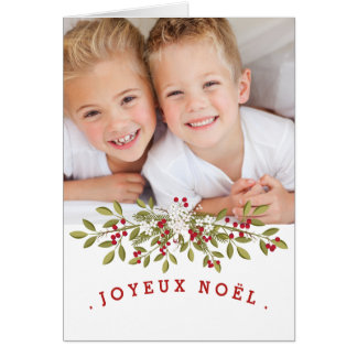 Carte photo du Joyeux Noël