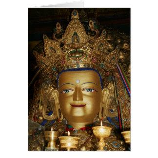 Carte photo du Thibet : Bouddha Shakyamuni, Lhasa