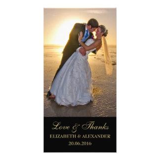 Carte photo élégant de Merci de mariage