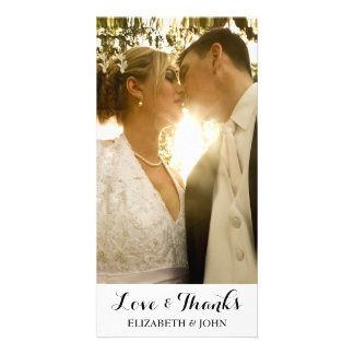 Carte photo élégant moderne de Merci de mariage