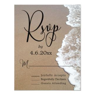 Carte Photo et typographie de sable et de plage de