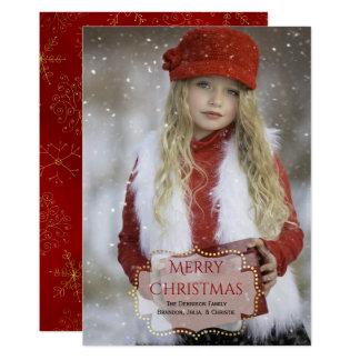 Carte photo fait sur commande élégant de Noël Carton D'invitation 12,7 Cm X 17,78 Cm