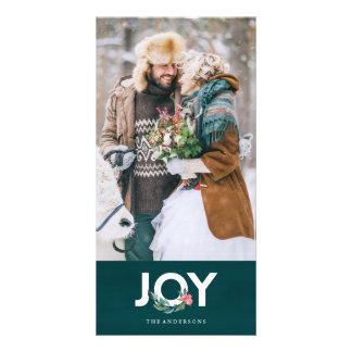 Carte photo floral de joie