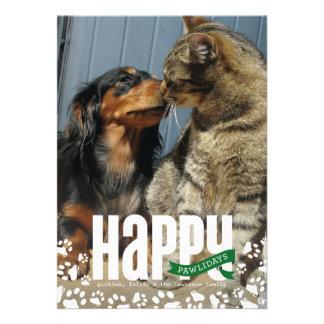 Carte photo heureux de Noël d animal familier de P Faire-part Personnalisables