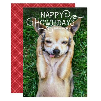 Carte photo heureux de vacances d'animal familier carton d'invitation  12,7 cm x 17,78 cm
