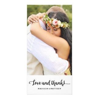 Carte photo | l'épousant chic de Merci de Boho Cartes De Vœux Avec Photo