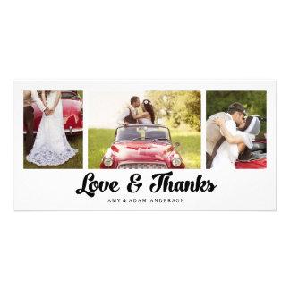Carte photo l'épousant moderne de Merci du collage Photocartes