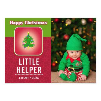 Carte Photo mignonne drôle de vacances d'Elf de bébé