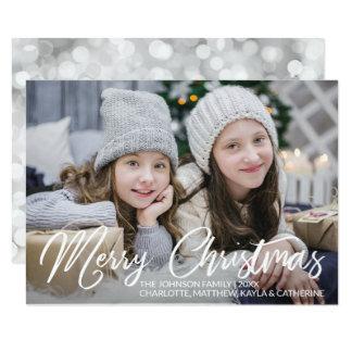 Carte PHOTO moderne de la famille | de vacances de Noël