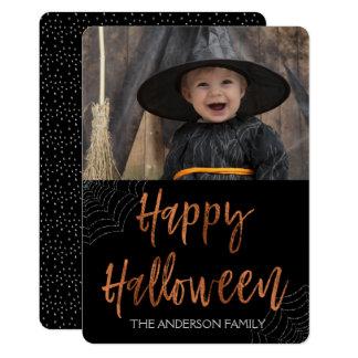 Carte Carte photo moderne heureux de Halloween Halloween