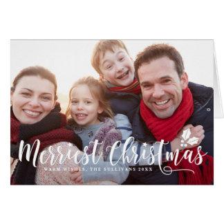 Carte photo moderne I du plus Joyeux Noël de