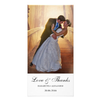 Carte photo moderne simple de Merci de mariage