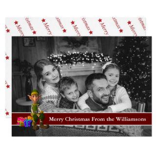 Carte Photo noire et blanche automatique Elf et bande