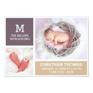 Carte photo nouveau-né de faire-part de naissance