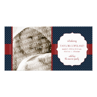 Carte photo patriotique de faire-part de naissance photocarte customisée