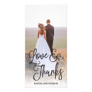 Carte photo romantique de Merci de mariage de