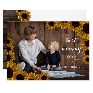 Carte photo rustique de jour de mères de