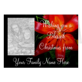 Carte Photocard béni de Noël