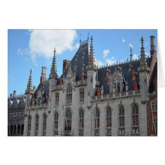 Carte Photographie de conte de fées de Stadhuis Bruges