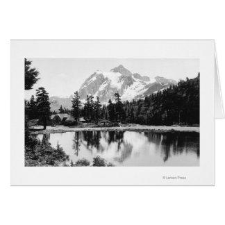 Carte Photographie de loge de Baker de Mt. Shuksan et de