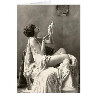 Carte Photographie vintage de colombe de Billie