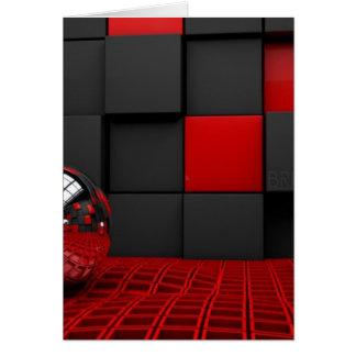 Carte Pièce rouge et noire