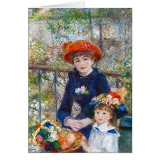Carte Pierre-Auguste Renoir deux soeurs sur la terrasse