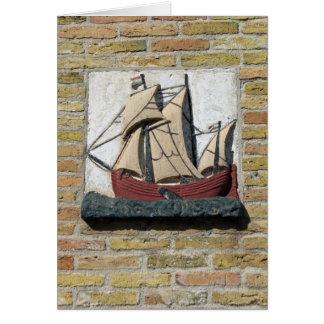 Carte Pierre de pignon de la Hollande de bateau de