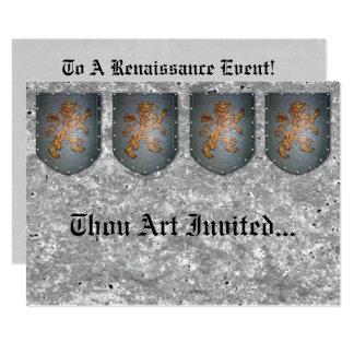 Carte Pierre grise de Faux de lion de bouclier en métal