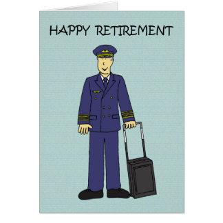 Carte Pilote heureux de retraite