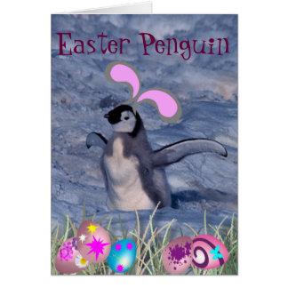 Carte Pingouin de Pâques