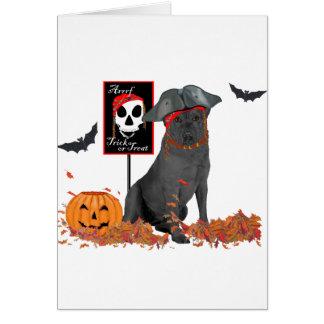 Carte Pirate noir de labrador retriever