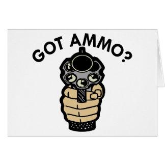 Carte Pistolet obtenu blanc de munitions