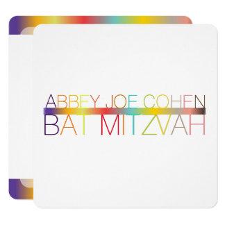 Carte PixDezines DIYcolors/typographie/bat mitzvah