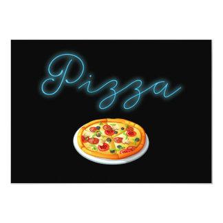 Carte Pizza au néon de lueur